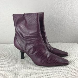 Gianni Bini Faux Snakeskin Ankle Boots